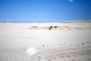 I don't know why I took a photo of a pile of tires in the desert. But here it is, the Sperrgebiet.