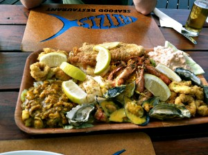 Me and my travelmate split a seafood platter. Aside from not wanting to eat raw oysters in a foreign country, it was pretty delicious, especially the fish curry. Next time, I'd just order the curry.